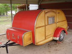 2008 Slumber Coach Woody Wagon Teardrop Trailer