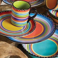 Tequila Sunrise Dinner Plates - Set of 4