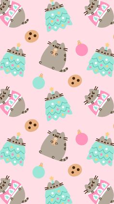 FREE Exclusive Pusheen Android and iPhone® Christmas Wallpapers – – Christmas wallpaper Funny Christmas Wallpaper, Xmas Wallpaper, Winter Wallpaper, Trendy Wallpaper, Kawaii Wallpaper, Wallpaper Backgrounds, Iphone Backgrounds, Wallpaper Ideas, Wallpapers Android