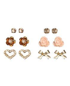 6 Diamond Dust Earring Set - Teen Clothing by Wet Seal