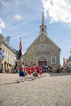 Ville de Québec   Place-Royale - Parade à Place-Royale   Parade at Place-Royale - Quebec, Canada Quebec Montreal, Quebec City, Montreal Canada, British North America, Chute Montmorency, Canada Pictures, Chateau Frontenac, Le Petit Champlain, Viajes