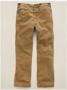 RRL Piece-Dyed Canvas Work Pant