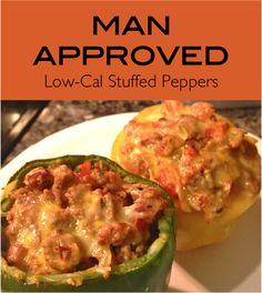 Mexican Stuffed Peppers. I am on a roll with pintrest recipes. I made half with pinto beans and half with rice for picky Nolan.