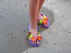 Luau, flip flop craft