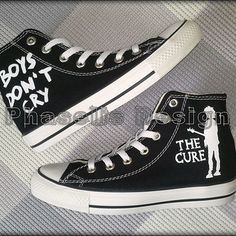 c1fecfe75aad1b The Cure Custom Converse   Painted Shoes Custom Converse