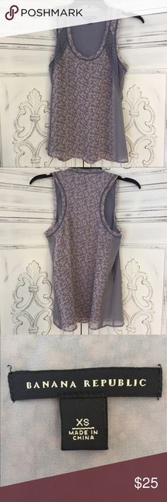 Banana Republic Tank Top Shell is 100% silk and lining is 100% polyester. Size XS Banana Republic Tops Tank Tops