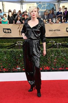 When it comes to the red carpet, everyone should aspire to be as fabuleux as Gwendoline Christie. But tonight, we wish you the best of luck in your plight because Christie's black Vivienne Westwood number is untouchable. #refinery29 http://www.refinery29.uk/2017/01/138404/best-dressed-celebrities-sag-awards-2017#slide-15