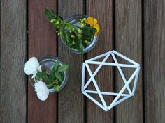 Decorative Geometric Shapes made to order for table decor and events