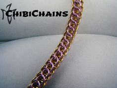 Bracelet - Flat Full Persian Front by Chibichains on DeviantArt #Chainmail #chainmaille #Flatfullpersian #bracelet #Chibichains