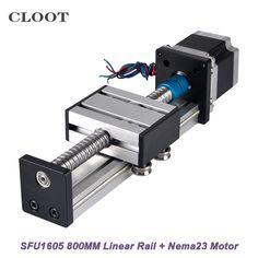800mm CNC Linear Guide Rail SFU1605 Linear Mould  Nema23 Stepper Motor