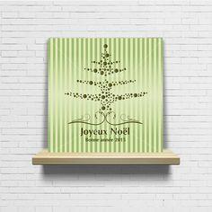 Carte de voeux noël original design moderne ornements doré : Cartes par artdeco28