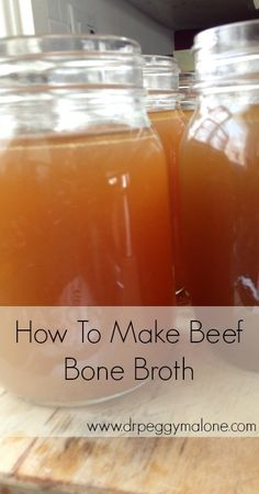 How To Make Beef Bone Broth:     	     -3 to 5 lbs of Meaty Beef Soup Bones     -1 Medium Onion     -3 Large Carrots     -3 Stalks of Celery     -3 Cloves of Garlic     -2 Bay Leaves     -1 Tbsp Sea Salt     -1 Tbsp Ground Black Pepper     -2 Tbsp Apple Cider Vinegar     -8-12 Cups of Filtered Water.