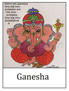 Ganesha Quote Print by OurArtyCreations on Etsy
