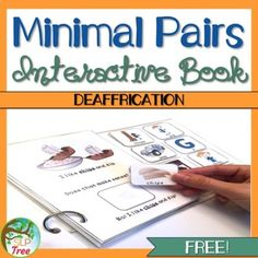 This interactive book works on reduction of the phonological process of Deaffrication in a fun and silly way. This book uses minimal pairs and silly pictures to teach students that substituting one sound of the word changes the meaning. There are 8 targets/pages in this interactive book. Speech Language Therapy, Speech And Language, Speech Therapy, Minimal Pair, Phonological Processes, Articulation Therapy, Silly Pictures, Book Works, School Projects