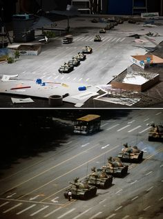 Joakim Cortis & Adrian Sonderegger : History's Most Iconic Photos Recreated as Miniature Still Lifes - My Modern Met