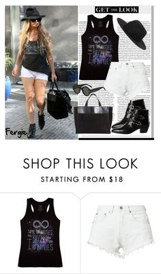 """Get The Look: Fergie"" by helenevlacho ❤ liked on Polyvore featuring ASOS, Bitching & Junkfood, Yves Saint Laurent, Monki, GetTheLook, StreetStyle, CelebrityStyle and fergie"
