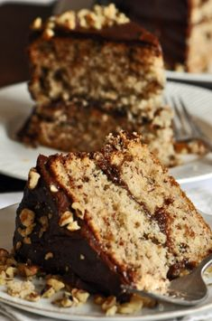 Buttermilk Banana Cake with Coffee-Chocolate Frosting Recipe