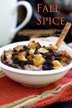 Fall Spice Steel-Cut Oatmeal  there are other recipes on the same page