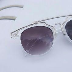 Metallic Brow Bar And Bridge Sunglasses Metallic Brow Bar And Bridge Sunglasses Size : Width: 5.75 inch Accessories Sunglasses