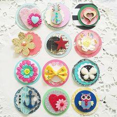 Cute Mini Circle Embellishment Kit - Make your Own Paper Pretties NEW - Koko Vanilla Designs