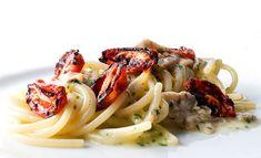 Spaghetti affumicati alle vongole con pomodorini pendolini grigliati di Uliassi in versione express (che lo chef mi perdoni!)