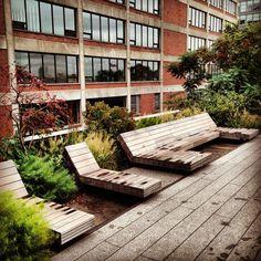 The High Line in New York City, Manhattan.