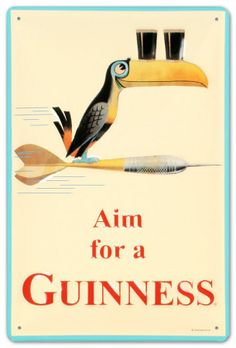 We've never really done a beer based post before, so this is a first. Guinness advertising dating back to the has bui. Vintage Labels, Vintage Ads, Vintage Posters, Retro Ads, Guinness Advert, Guinness Book, Coffee With Alcohol, Beer Poster, Pub Signs