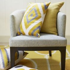 Embroidered Ikat Diamond Pillow Cover | west elm