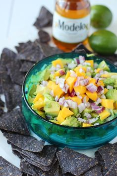 The BEST Mango Guacamole! SO easy and quick!!