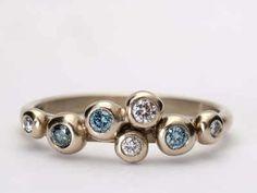 white gold pebble ring pr13