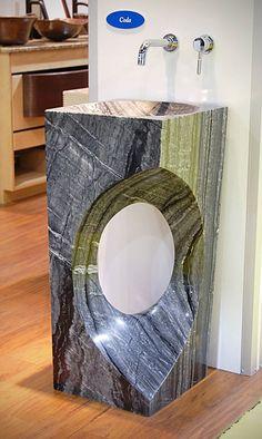 Natural Stone Pedestal Sinks - pedestal sink photos from D'Vontz
