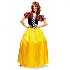 Disfraces Disney mujer| Disfraz de Blancanieves clásico. Contiene vestido con aro, gargantilla y diadema. Talla M. 25,95€ #blancanieves #princesa #princesadisney #disfraz #disney #disfraces #disfrazdisney