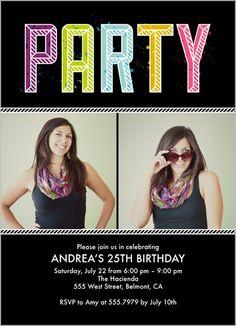 Party Pizazz 5x7 Photo Card by Shutterfly
