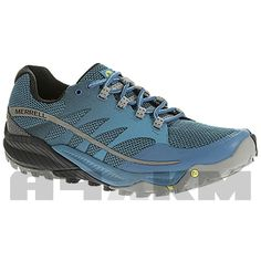 Zapatillas trail running Merrell all out charge en colores azules. Puedes  pasar a verla y