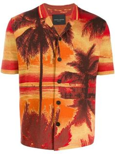 Roberto Collina Palm Tree Print Shirt - Farfetch#collina #farfetch #palm #print #roberto #shirt #tree Palm Tree Print, Palm Trees, Mens Shirts Online, Mens Designer Shirts, Printed Shirts, Shirt Designs, Women Wear, Mens Fashion, Mens Tops