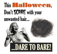Scaredy cats welcome! No Tricks-Just Treats! Contact Wax Me Happy to schedule your next appointment.   www.waxmehappy.com