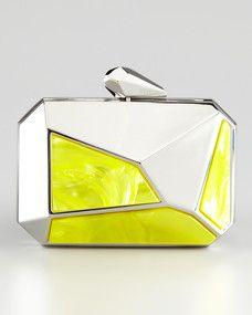 e135b7ff9 faceted clutch Neon Clutch, Yellow Clutch, Best Handbags, Fashion Handbags,  Designer Clutch
