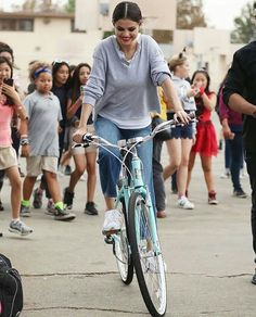 [30th of October 2017] @selenagomez riding bike