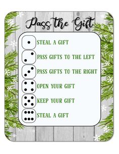 Pass the Gift Christmas Game, White Elephant Gift Exchange christmasgiftexchange. Pass the Gift Christmas Game, White Elephant Gift Exchange christmasgiftexchangegames White Elephant Game Rules, Best White Elephant Gifts, Christmas Gift Exchange Games, Christmas Games, Christmas Ideas, Xmas Games, Holiday Games, Christmas 2019, Holiday Ideas