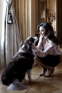 Crown Princess Mary of Denmark and her Border Collie Ziggy. Just another queen and her border collie.