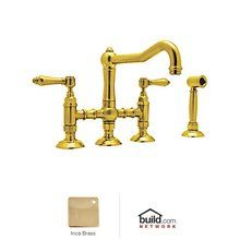 View the Rohl A1458LMWS-2 Country Kitchen Three Leg Bridge Faucet with Metal Levers Handles and Side Spray at Build.com. IN POLISHED NICKEL!