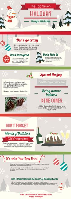 The Top 7 Holiday Design Mistakes from Decor Steals :) WWW.DecorSteals.com
