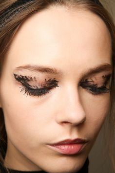 Fendi   - HarpersBAZAAR.com  Makeup-- Bold eyeliner  *Selectively chooseing which feature to emphasize*