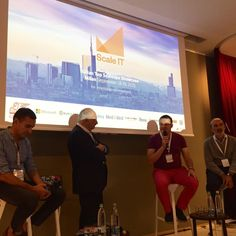 On stage at in Milan, discussing how today's startup teams can not afford to stay just in one location. Milan, Remote, This Is Us, Scale, Building, Weighing Scale, Buildings, Balance Sheet, Construction