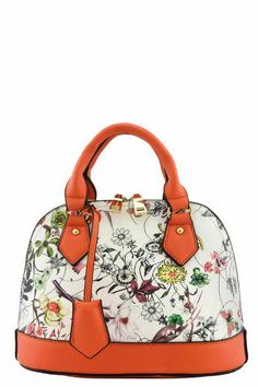 Floral Designer Mini Top Handle Bag