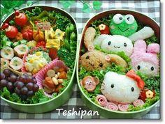 Eat the Kitty. Cute Bento Boxes, Bento Box Lunch, Bento Kids, Kawaii Bento, Sushi, Incredible Edibles, Weird Food, Cute Food, Creative Food