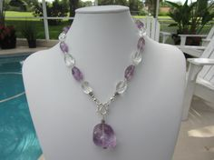 Amethyst And Clear Quartz Sterling Silver by JKCustomDesigns