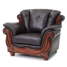 Glory Furniture Lanza Arm Chair Color: Brown