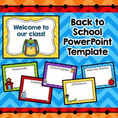 EDITABLE Back to school powerpoint! Customize with your own info! Great for parent night, orientation, or open house! $