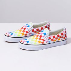 Rainbow checkered Vans  48299b609